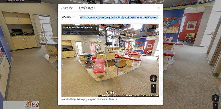 Add your Google Maps Street View Virtual tour to your own website